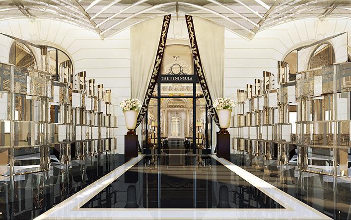 The Lobby Terrace Entrance - Peninsula Paris