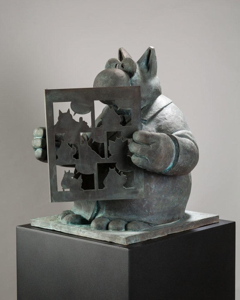 Philippe Geluck-Bronze