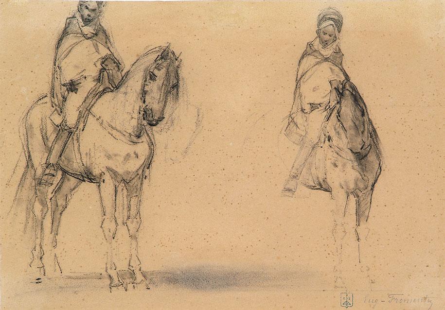 Deux études de cavaliers-arabes-c-Fromentin Eugene-Liège Bal